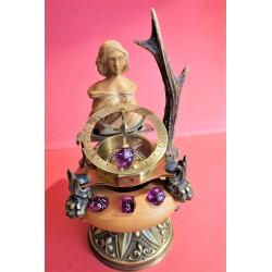 sculpture porte dés sirène
