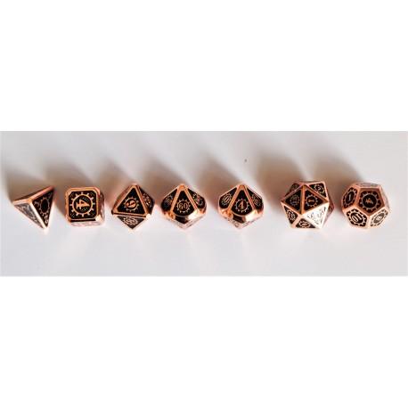 série de 7 dés en métal série 12