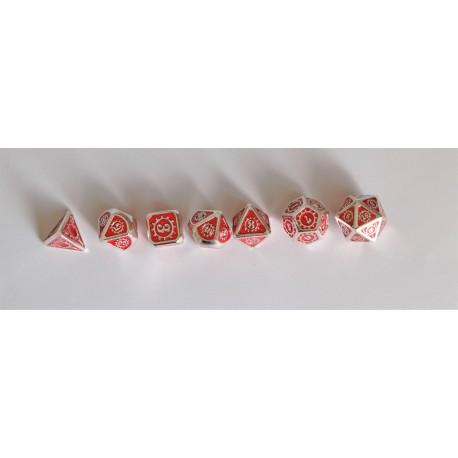 série de 7 dés en métal série 14