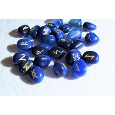 runes en agate bleu