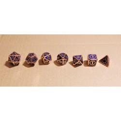 série de 7 dés en métal série 19